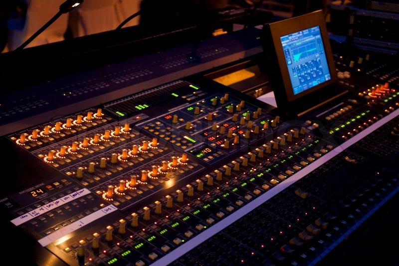 Sound mixer in concert | Stock image | Colourbox