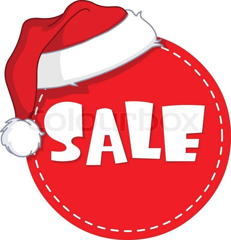 Christmas sale tag   Vector   Colourbox