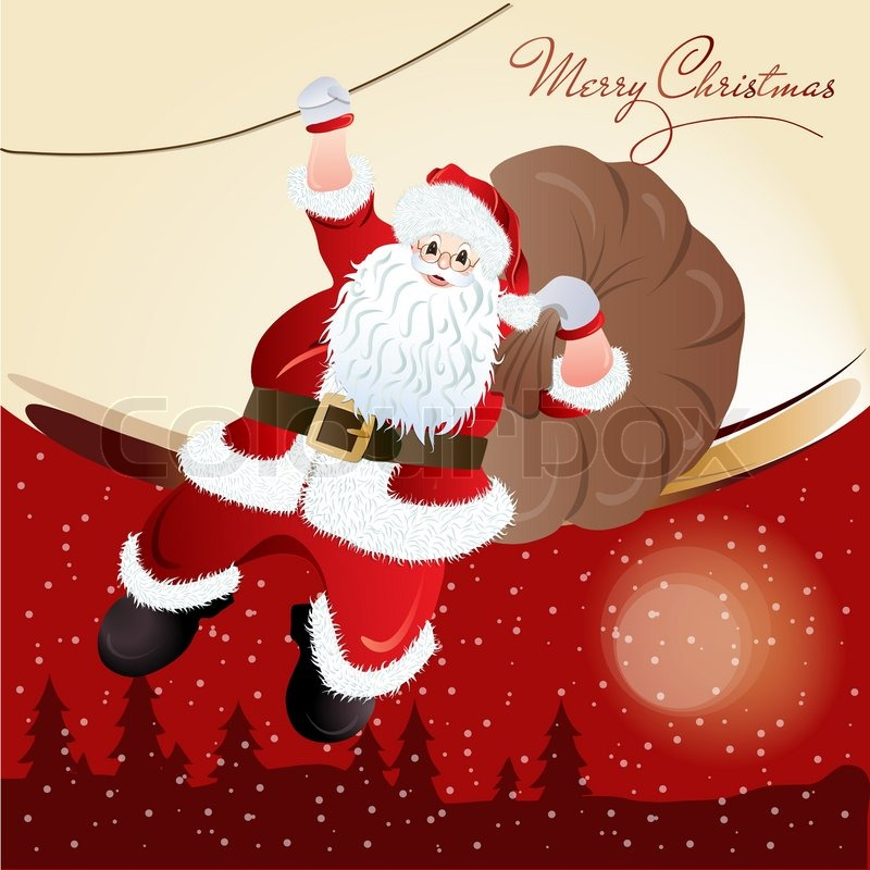 Santa Claus, Greeting Card Design In Vector Format | Stock Vector |  Colourbox  Greeting Card Format