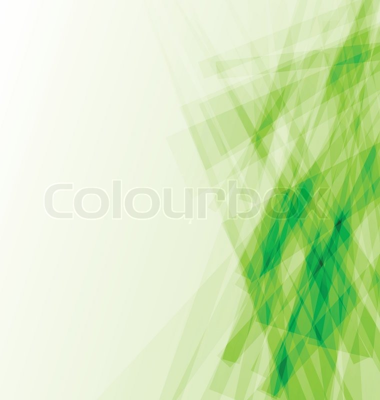 Green business card, abstract background | Stock Vector | Colourbox
