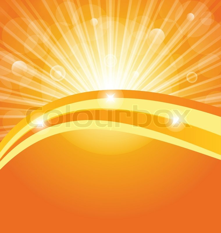 Abstract Background With Sun Light Stock Vector