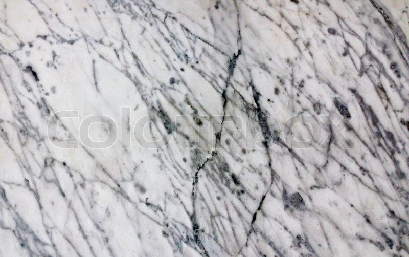 White Veined Marble Slab Background Texture Stock Photo