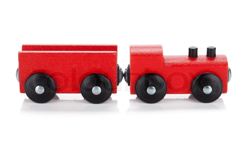 Wooden toy train | Stock Photo | Colourbox