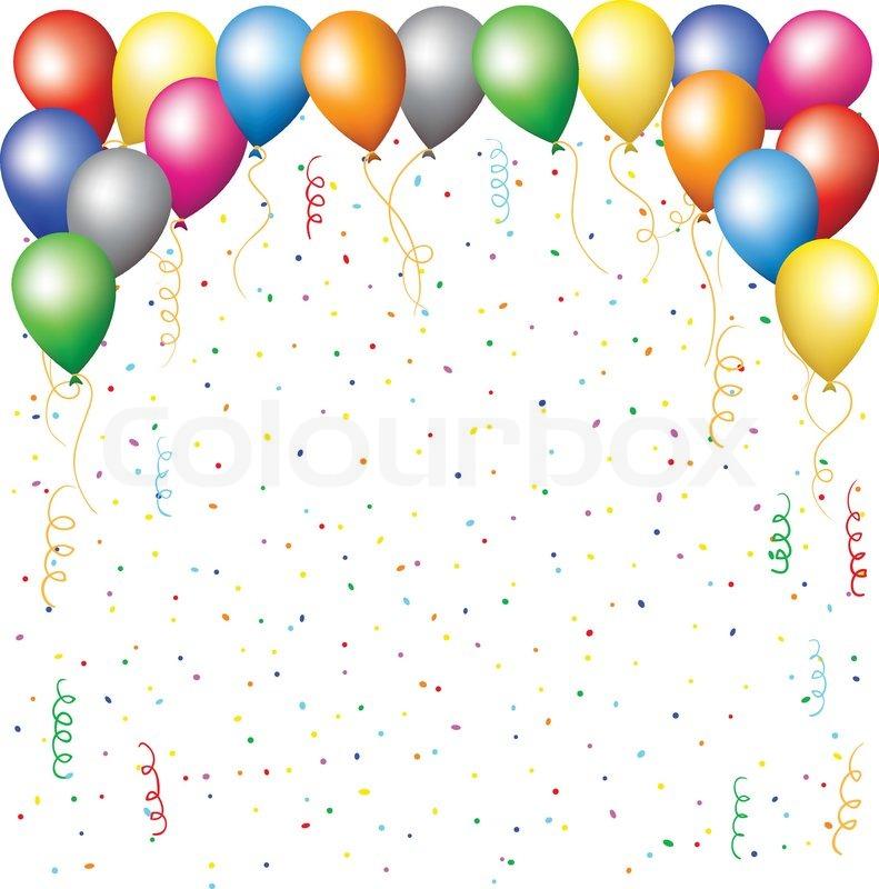 luftballons konfetti und serpantine vektorgrafik colourbox. Black Bedroom Furniture Sets. Home Design Ideas