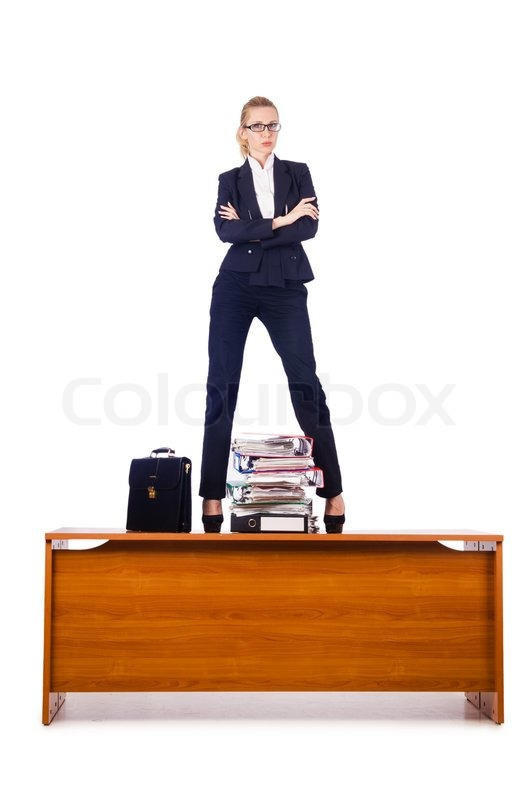 Dominant Woman Boss Standing On Desk Image 5315217 on Busy Binder