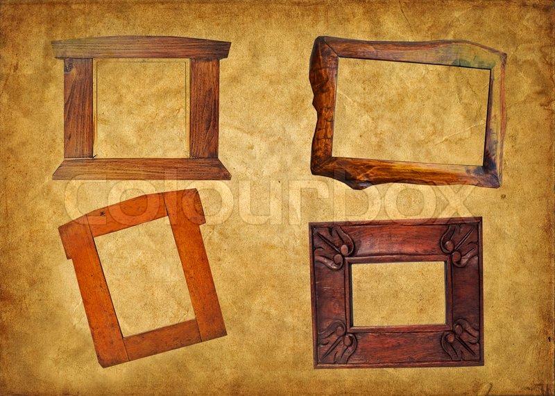 Vintage wood frame concept  Stock Photo  Colourbox