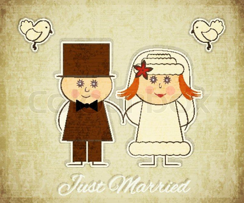 Stock Vector Of Vintage Design Wedding Card