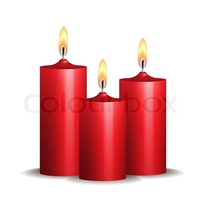 red candle white background - photo #8
