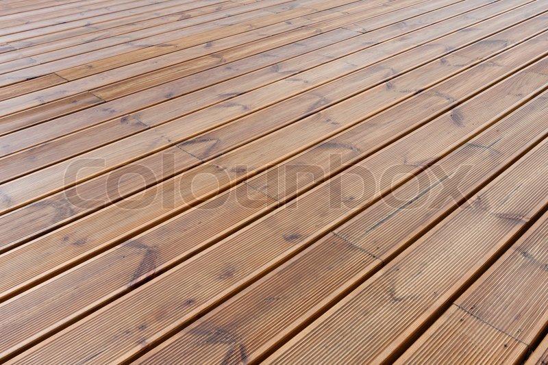 Nasses Holz Boden Terrasse Stockfoto Colourbox