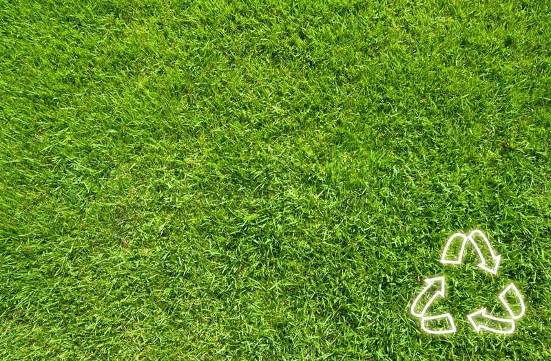 Recycle On Green Grass Texture Stock Image Colourbox