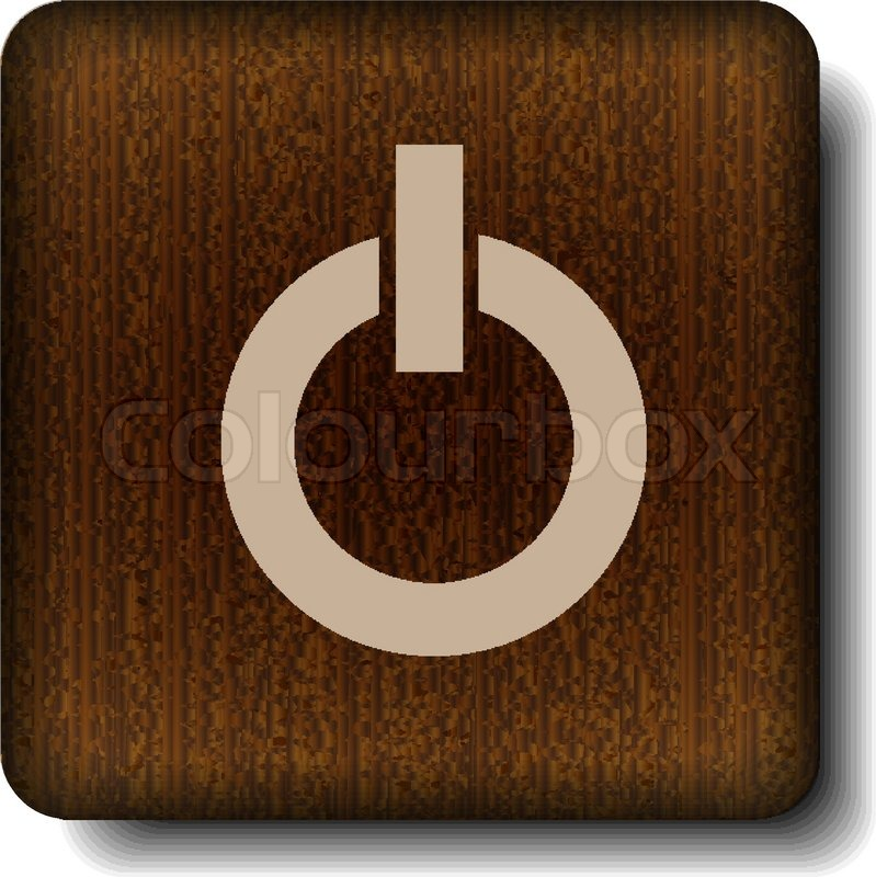 Power Off Icon Stock Vector Colourbox