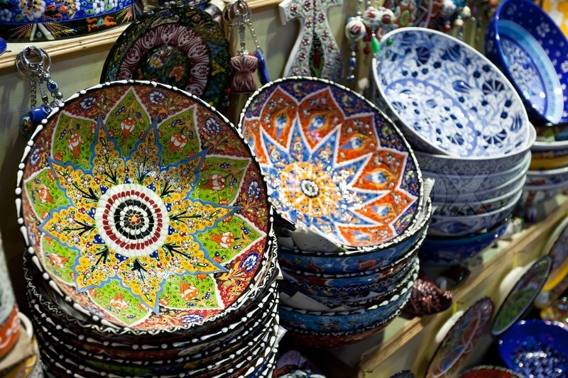 Plates For Sale >> Handmade Turkish Plates For Sale Stock Image Colourbox