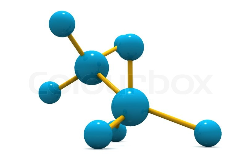 3d image of molecular structure stock photo colourbox