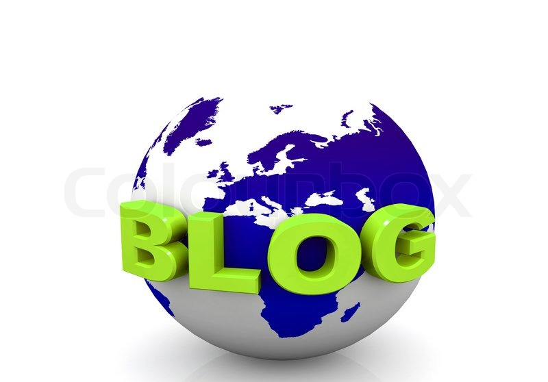 Stock image of 'Blog and world'