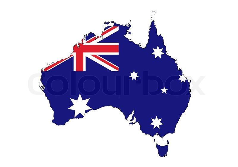 Australia Map Stock Vector Colourbox
