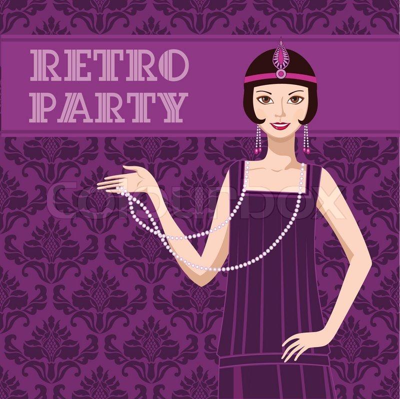 Retro party invitation card | Stock Vector | Colourbox