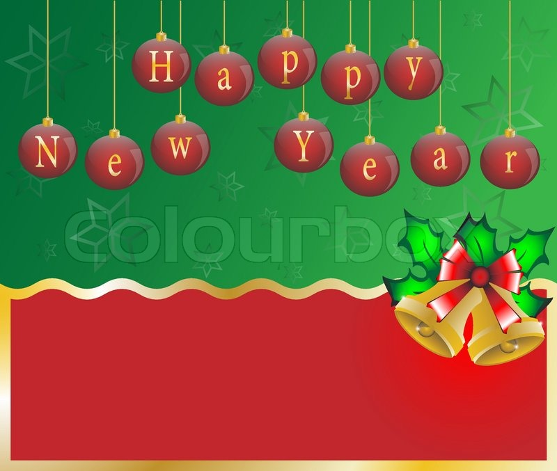 happy new year card background vector illustration stock vector colourbox