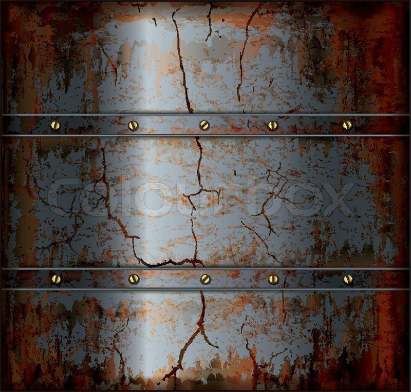 Background Metal Rusty Texture Stock Vector Colourbox