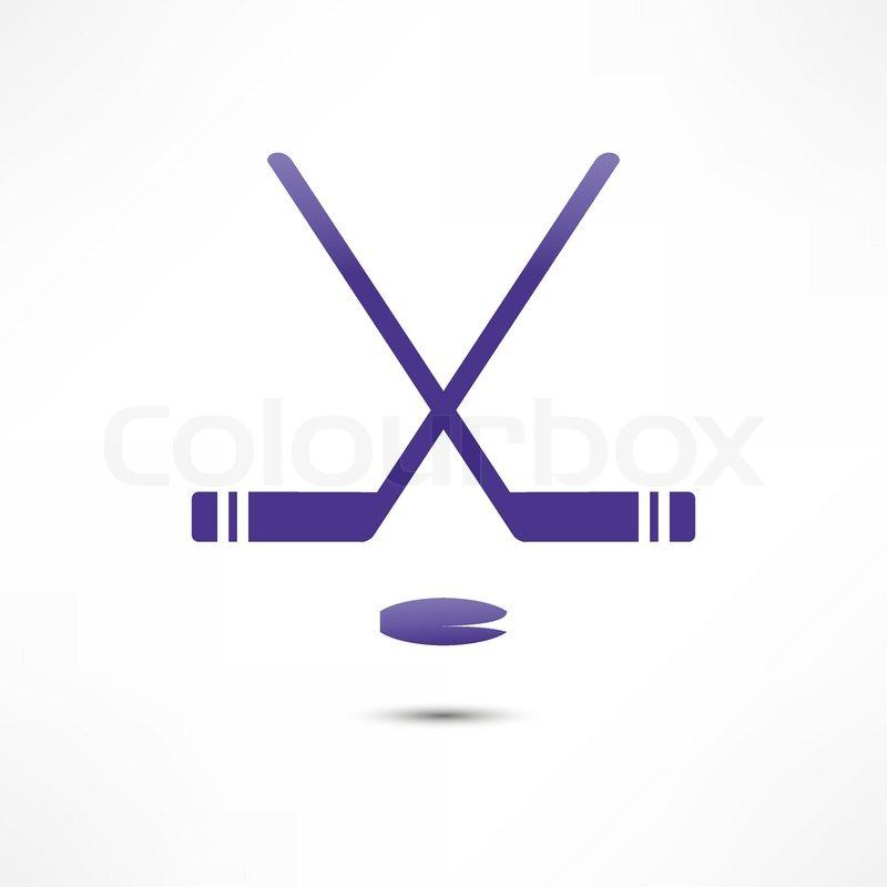 Stock vektor von eishockey schläger klappern