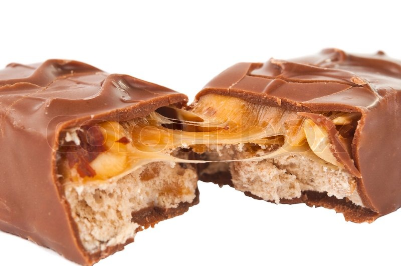 Chocolate bar with nuts isolated | Stock Photo | Colourbox