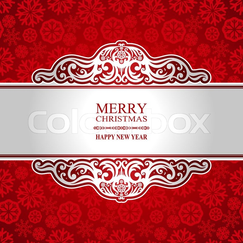 Christmas and new year vintage greeting card creative winter christmas and new year vintage greeting card creative winter background snowflake ornament red festive paper holiday decor merry christmas lettering m4hsunfo