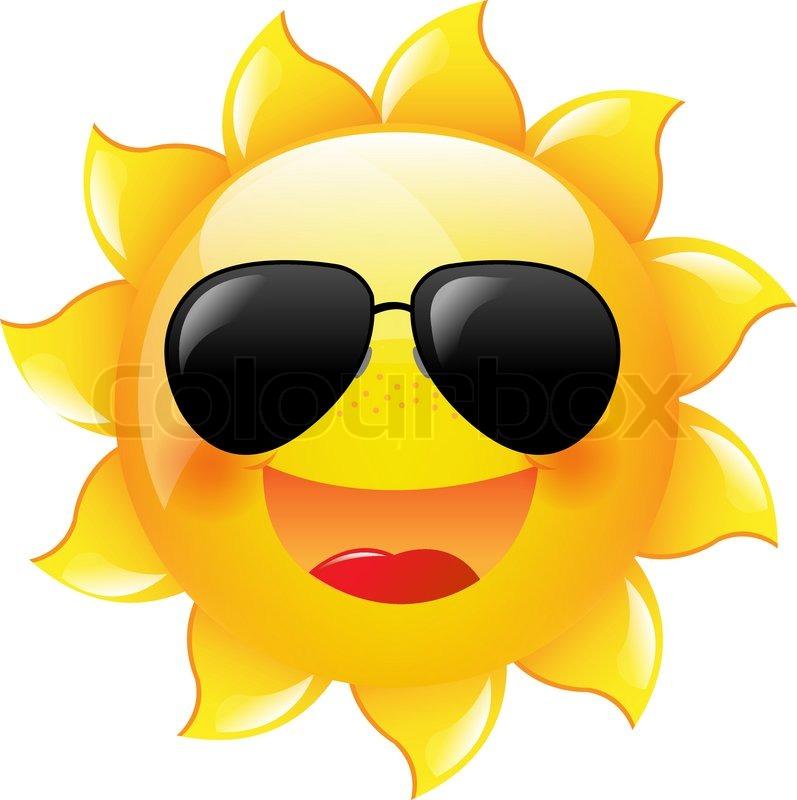 Smiley, sol, ikon | Ve... Summer Camp Vector