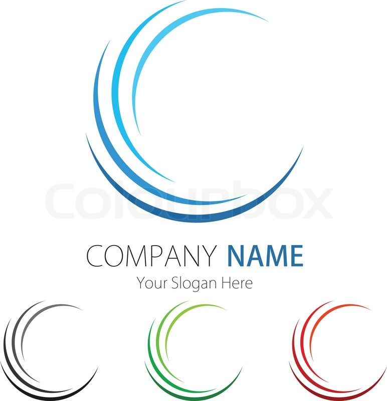 company business logo design stock vector colourbox