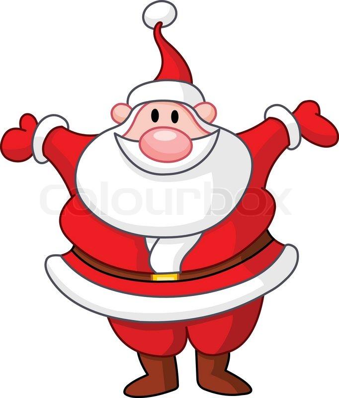 happy santa raising his arms stock vector colourbox. Black Bedroom Furniture Sets. Home Design Ideas