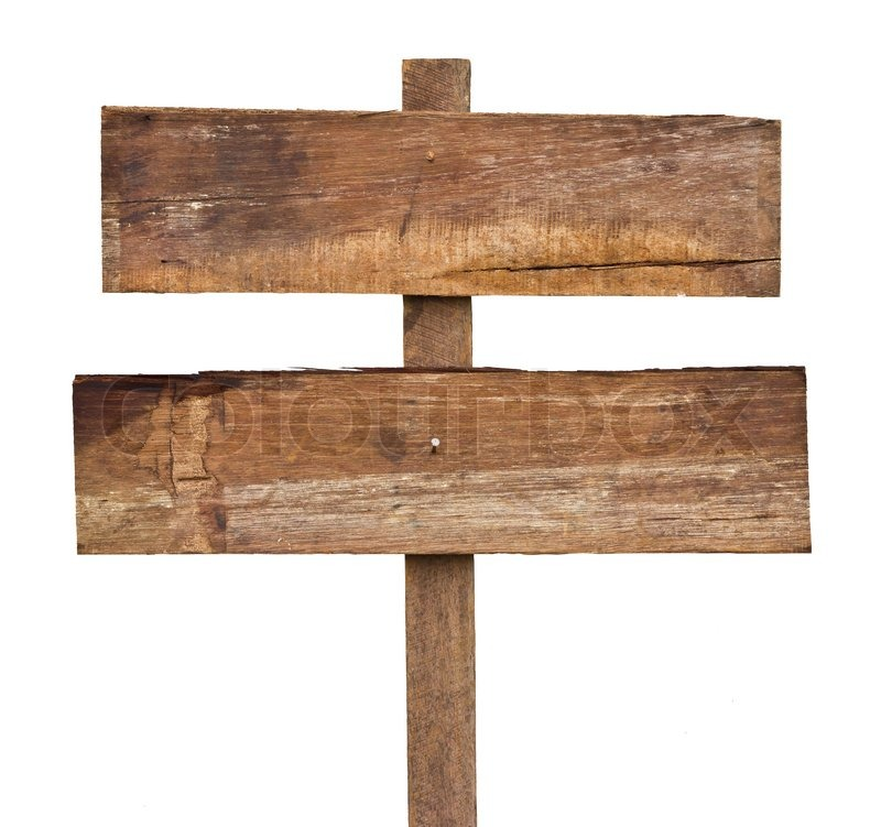 Old wooden sign | Stock Photo | Colourbox