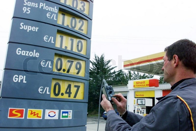 Editorial image of 'euro, fuel, petrol'