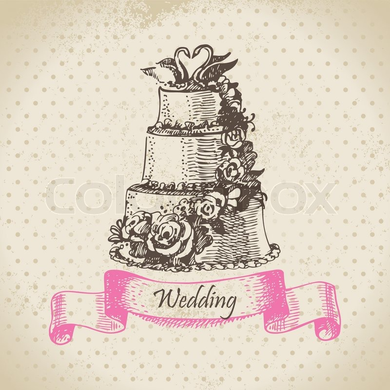 wedding cake box design vector wedding cake illustration stock vector 22061