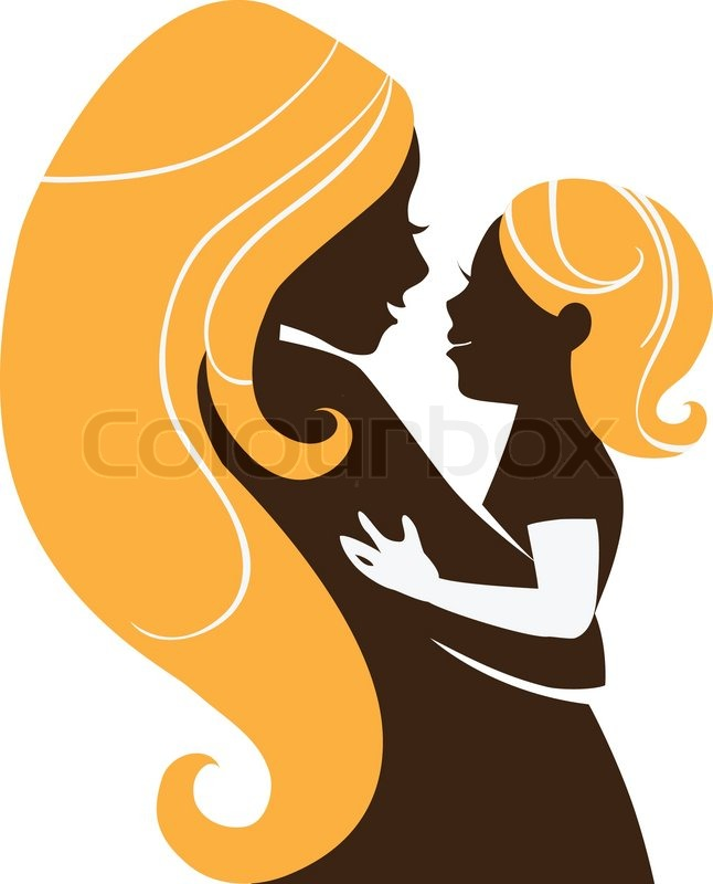 Love The Mother Child Silhouette: Beautiful Mother Silhouette With Baby