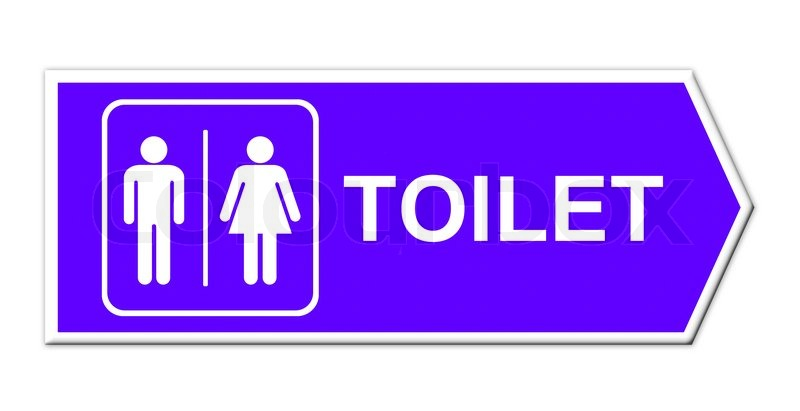 Stock Image Of Toilet Sign On White Background