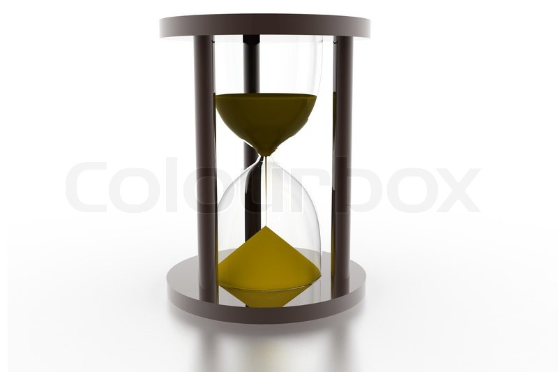 hourglass sandglass sand timer sand clock isolated on the white