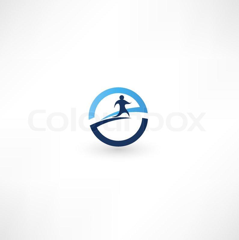 Running Logo Vector Running Man Icon Vector
