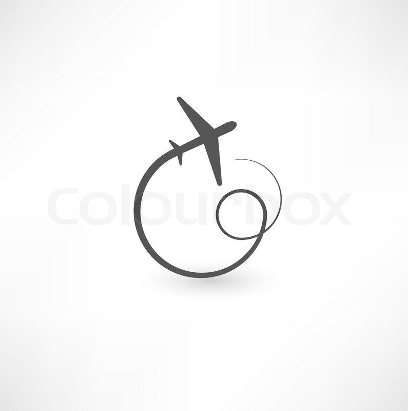 Airplane symbols   Stock Vector   Colourbox