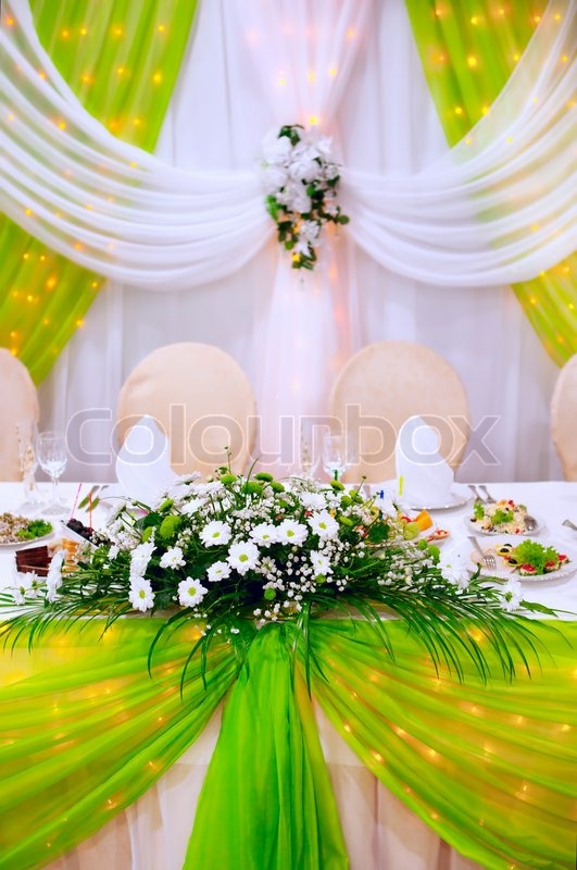 wedding flowers decoration 2 wedding decoration with fresh flowers stock photo 9572