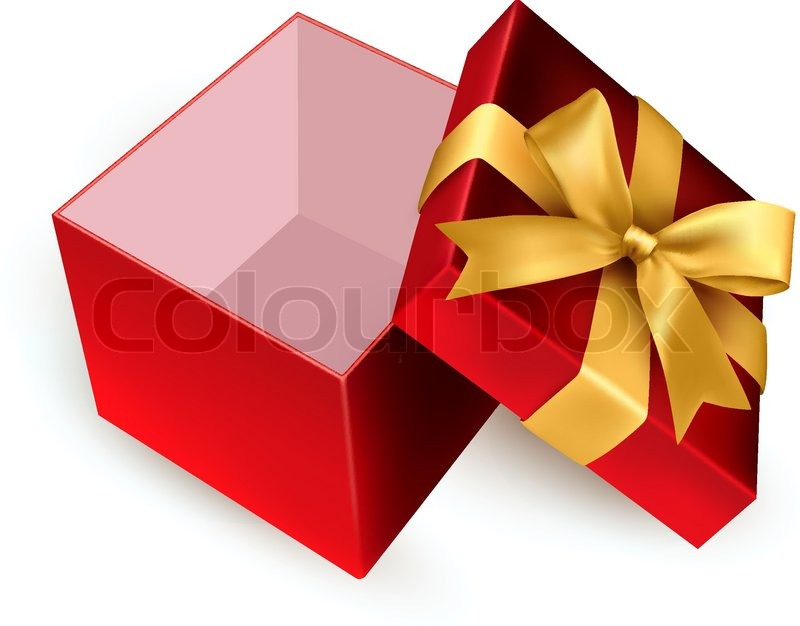 Christmas background with open gift box vector stock vector christmas background with open gift box vector vector negle Image collections