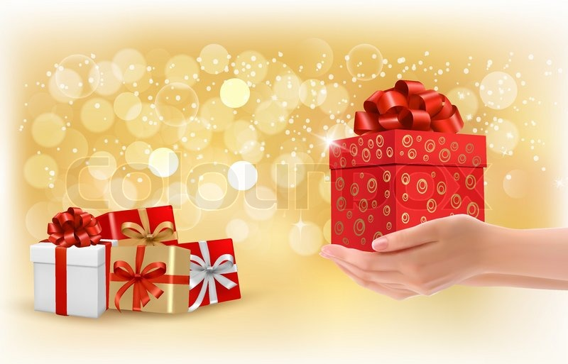 Christmas background with gift boxes concept of giving presents christmas background with gift boxes concept of giving presents vector vector negle Images