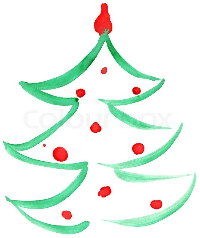 drawn christmas tree stock photo colourbox. Black Bedroom Furniture Sets. Home Design Ideas