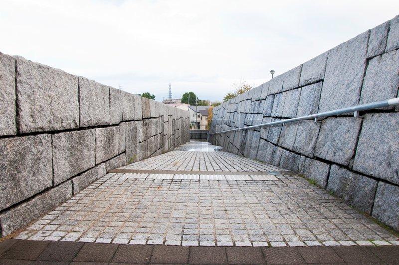 Rough Granite Block : Wall of rough granite blocks stock photo colourbox