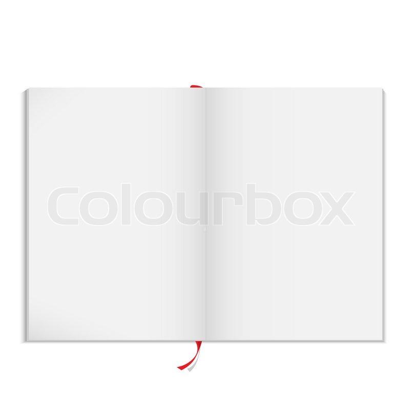 Vector blank open magazine | Stock Vector | Colourbox
