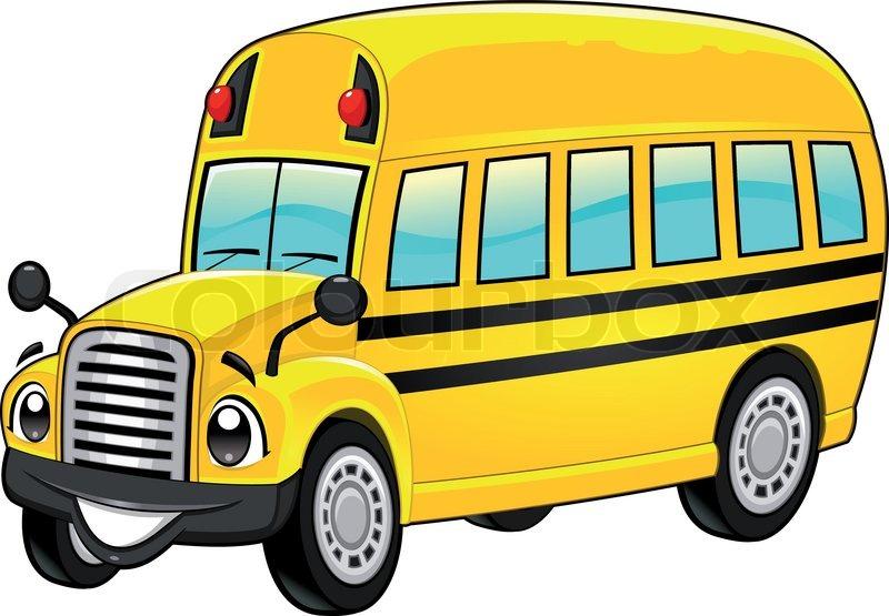 funny school bus stock vector colourbox rh colourbox com bus vector art bus victoria