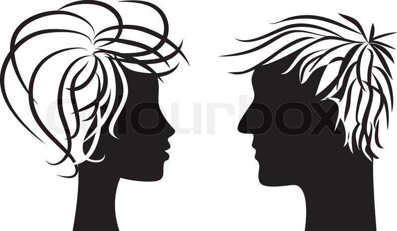 Silueta Hombre Y Mujer: Silhouette Of Man And Woman