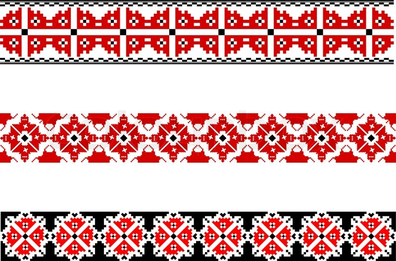 Elements of the national ukrainian embroidery eps