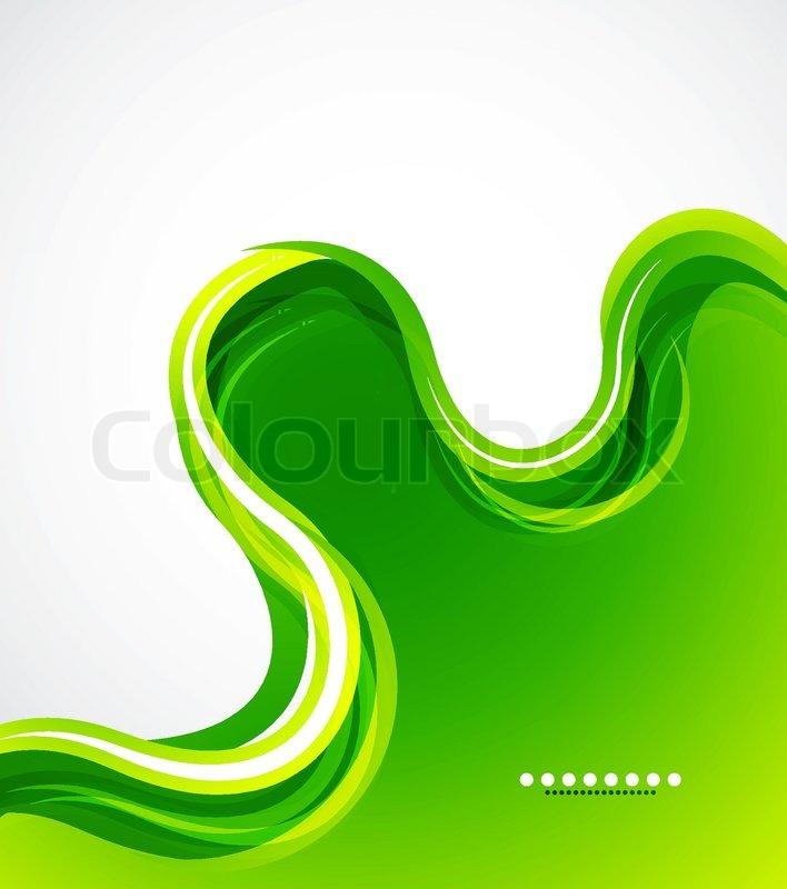 Green Eco Wave Abstract Vector Stock Vector Colourbox