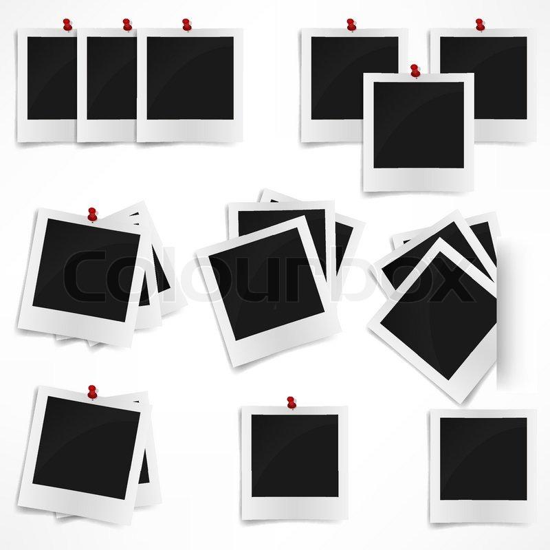 Polaroid Bilderrahmen auf weißem Hintergrund Vektor-Illustration ...