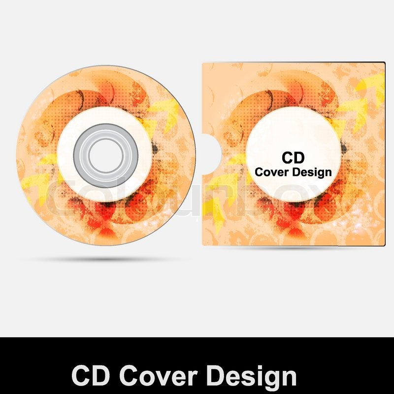 cd cover design template presentation isolated on white background, Presentation templates