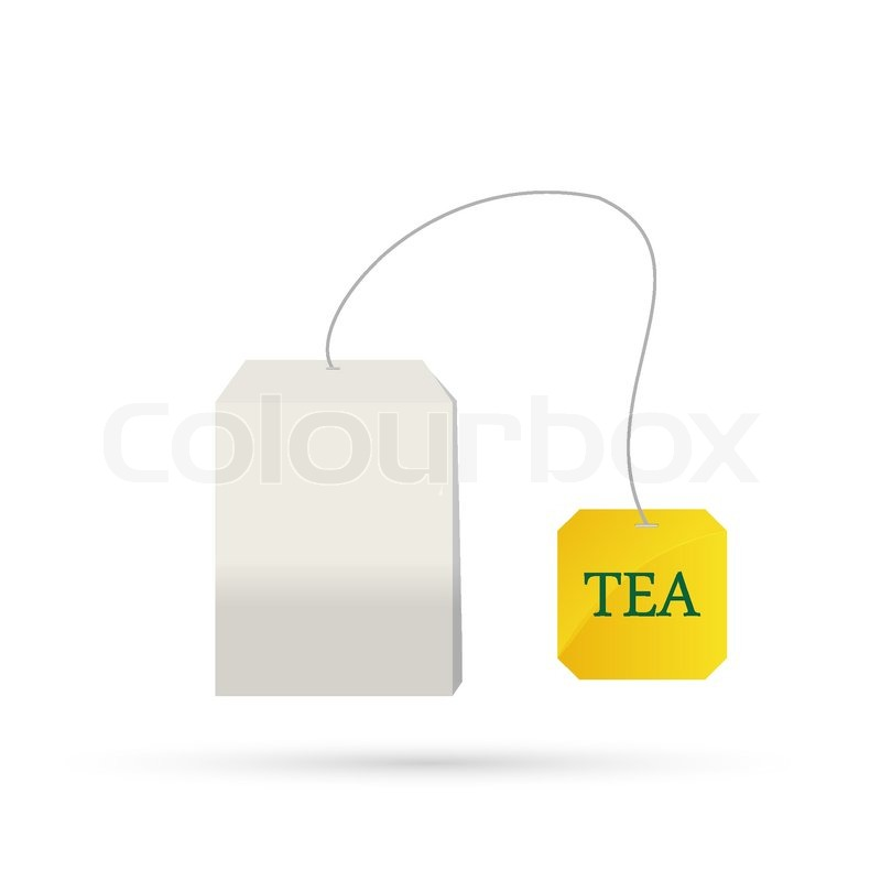 tea bag isolated on white background | stock vector | colourbox
