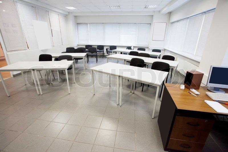 Empty Classroom Stock Photo Colourbox